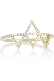 Izel 14-karat gold diamond ring