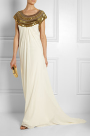 Temperley London Goddess embellished silk-chiffon gown