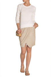 DAY Birger et Mikkelsen Liana brushed-leather wrap-effect skirt