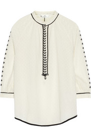 DAY Birger et Mikkelsen Kindred embroidered fil coupé blouse
