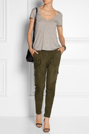 DAY Birger et Mikkelsen Tropic nubuck-leather tapered pants