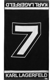 Karl Lagerfeld Number 7 cotton-terry beach towel