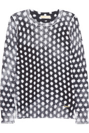 MICHAEL Michael Kors Printed cotton-blend sweater