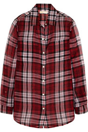 MICHAEL Michael Kors Plaid silk-voile shirt