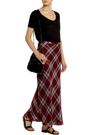MICHAEL Michael Kors Plaid silk-voile maxi skirt