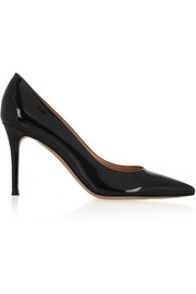 85 patent-leather pumps
