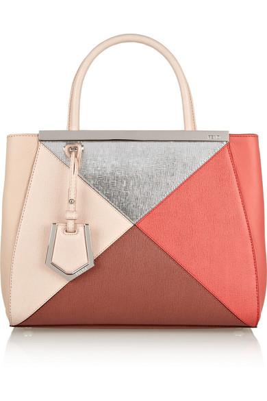 Sale alerts for 2Jours small color-block textured-leather shopper Fendi - Covvet