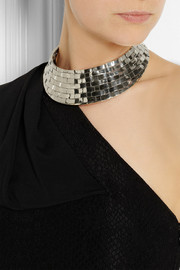 Anndra Neen Thatched silver-tone necklace