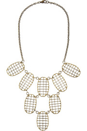 Anndra Neen Gold-tone lattice necklace