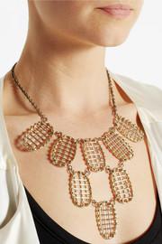 Anndra NeenGold-tone lattice necklace