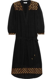 DAY Birger et Mikkelsen Aurora metallic embroidered georgette dress