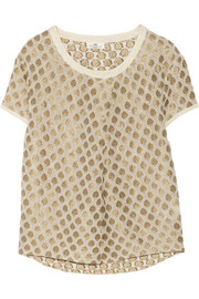 DAY Birger et Mikkelsen Aurora metallic embroidered georgette top