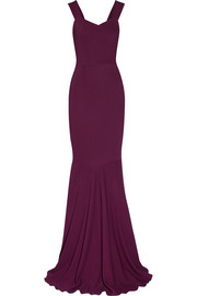 Orpheus stretch-crepe gown