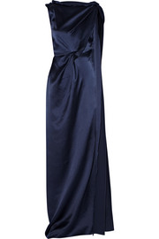Silvabella hammered silk-satin gown