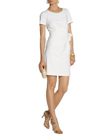 Diane von Furstenberg Zoe gathered stretch-poplin mini dress