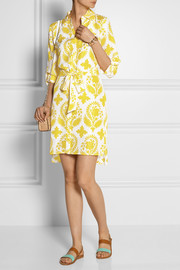 Diane von Furstenberg Vera printed silk-habotai shirt dress