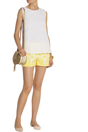 Diane von Furstenberg Jessa cotton and silk-blend jacquard top