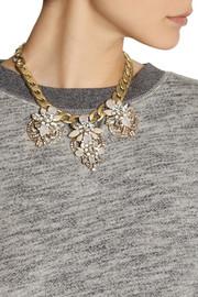 J.CrewStation Deco gold-tone crystal necklace