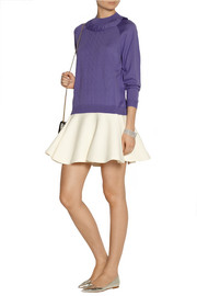 Miu Miu Ruffled pointelle-knit wool sweater