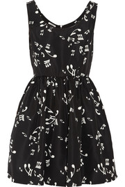 Miu Miu Printed silk-faille mini dress