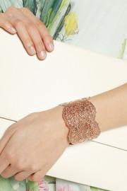 Aurélie BidermannRose gold-dipped lace cuff
