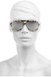 Stella McCartney Aviator-style acetate mirrored sunglasses
