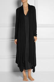 Donna Karan Sleepwear Stretch-jersey robe