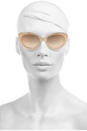 Linda Farrow Cat eye rose gold-plated and acetate sunglasses