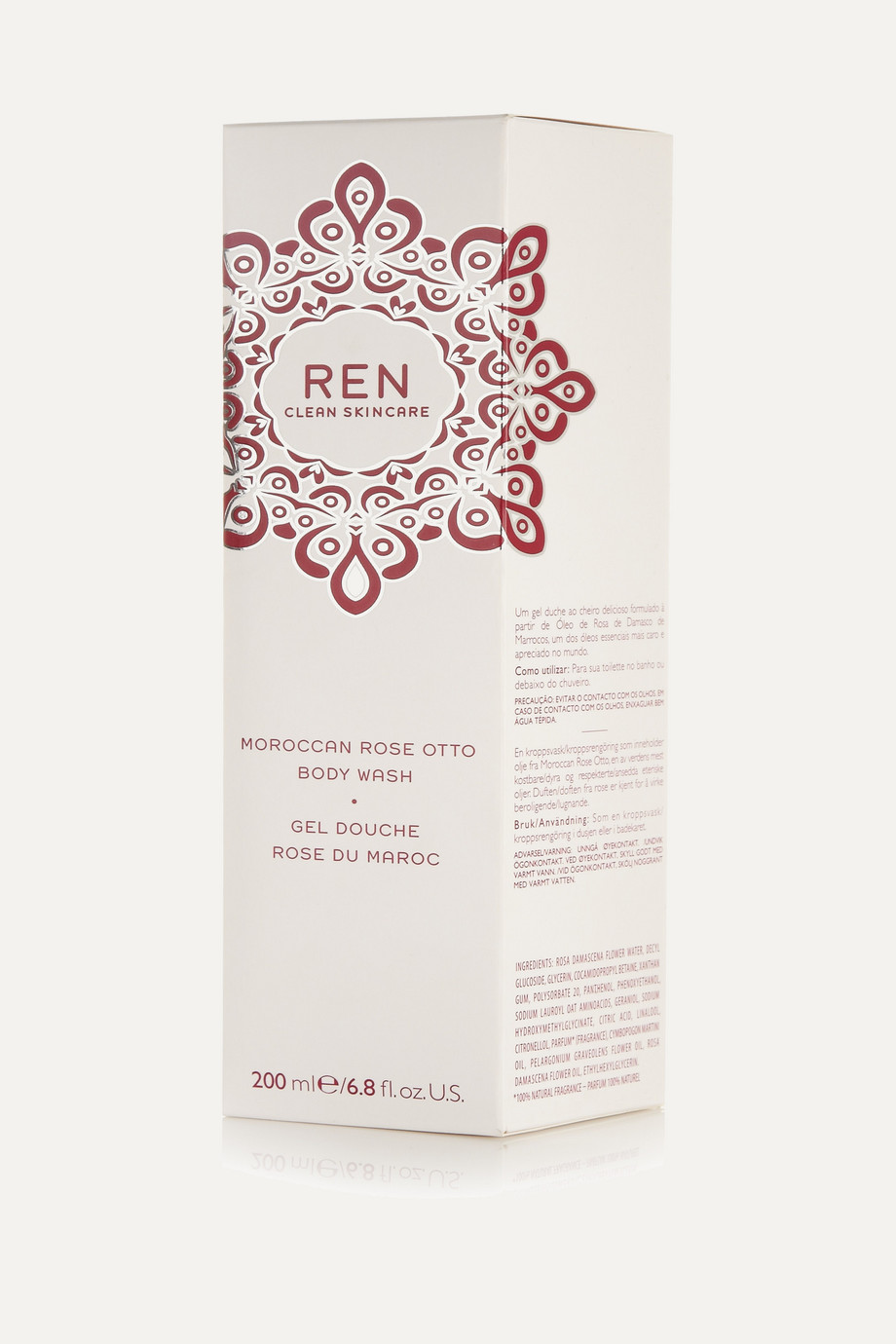 REN Clean Skincare + NET SUSTAIN Moroccan Rose Otto Body Wash, 200ml