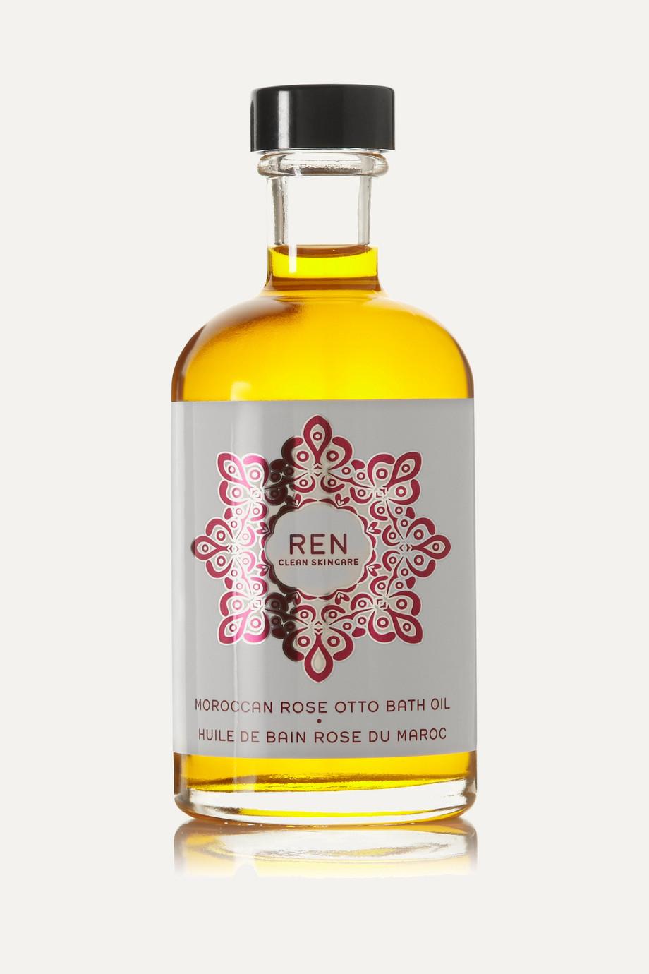 REN Clean Skincare + NET SUSTAIN Moroccan Rose Otto Bath Oil, 110ml