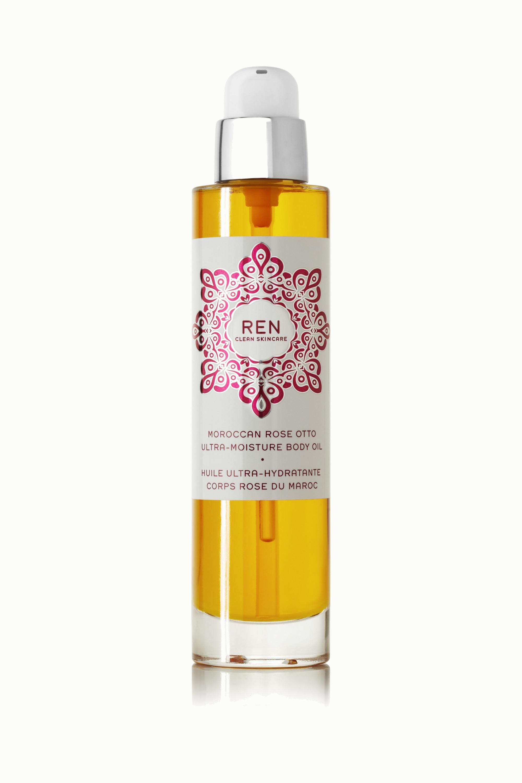 REN Clean Skincare + NET SUSTAIN Moroccan Rose Otto Ultra-Moisture Body Oil, 100ml