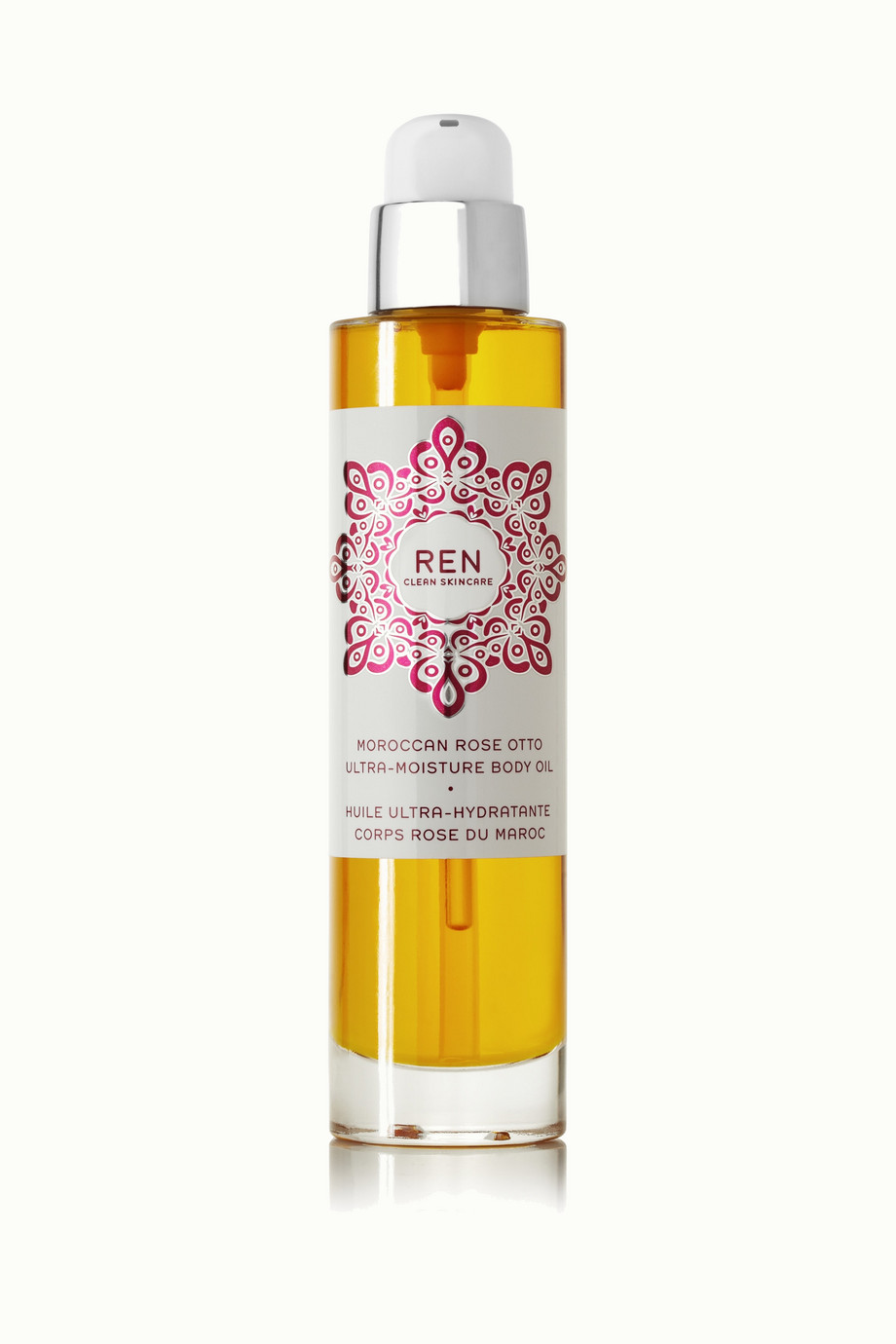 REN Clean Skincare + NET SUSTAIN Moroccan Rose Otto Ultra-Moisture Body Oil, 100ml