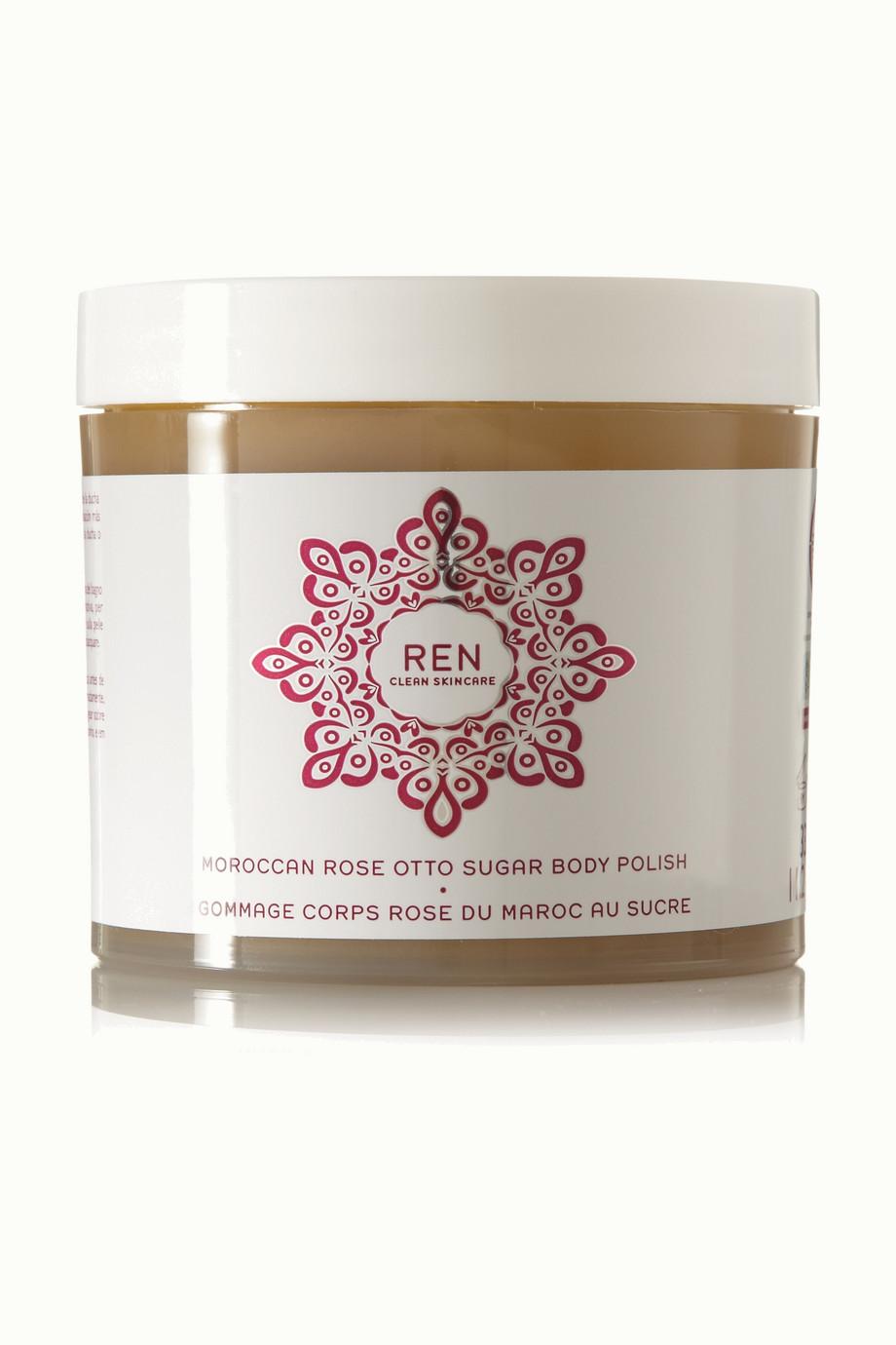 Moroccan Rose Otto Sugar Body Polish, 330ml, by Ren Skincare
