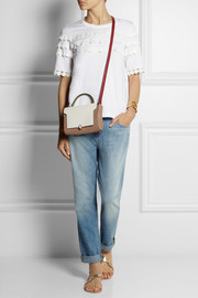 Anya Hindmarch Bathurst elaphe-trimmed textured-leather shoulder bag