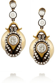 Fred Leighton Silver-topped 18-karat gold diamond earrings