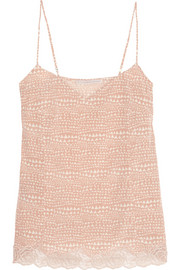 Stella McCartney Ellie Leaping printed stretch-silk crepe de chine camisole