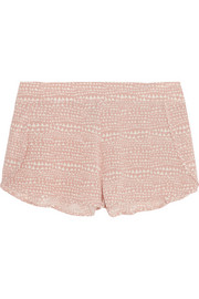 Stella McCartney Ellie Leaping printed stretch-silk crepe de chine pajama shorts