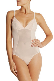 Stella McCartney Viola Dozing mesh and stretch-jersey bodysuit