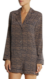 Stella McCartney Ellie Leaping printed stretch-silk crepe de chine playsuit