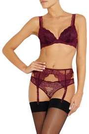 Stella McCartney Minnie Sipping lace, stretch-silk and point d'esprit contour bra