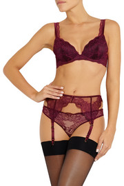 Stella McCartney Minnie Sipping lace, stretch-silk and point d'esprit briefs