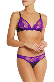 Stella McCartney Julia Stargazing lace, satin and tulle briefs