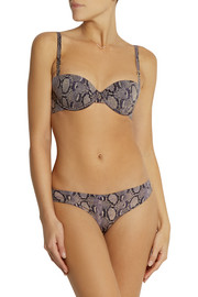 Stella McCartney Stella Smooth snake-print stretch-jersey contour bra