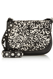 Heyes printed calf hair and leather shoulder bag