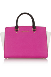 MICHAEL Michael Kors Selma large color-block textured-leather tote