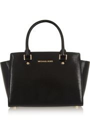 MICHAEL Michael Kors Selma medium textured patent-leather tote