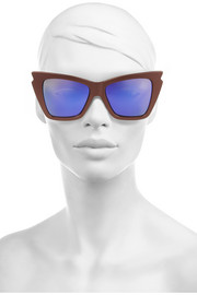 Le Specs Rapture metallic cat-eye acetate mirrored sunglasses