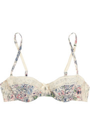 Elle Macpherson Intimates Indian Poppy printed stretch-crepe underwired bra