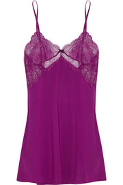 Elle Macpherson Intimates Wind Chime jersey and stretch-lace chemise