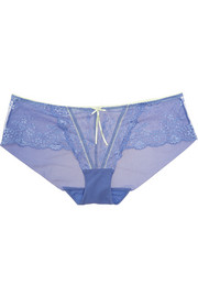 Elle Macpherson Intimates Dentelle lace and stretch-tulle briefs